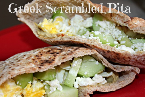 Greek Scrambled Pita