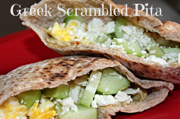 Greek Scrambled Pita