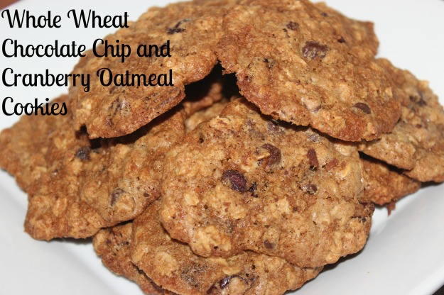 Whole Wheat, Oatmeal Chocolate Chip Cookies