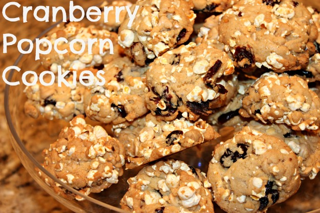 Cranberry Popcorn Cookies