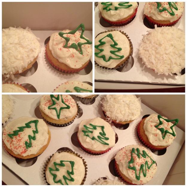 Christmas Cupcake Collage