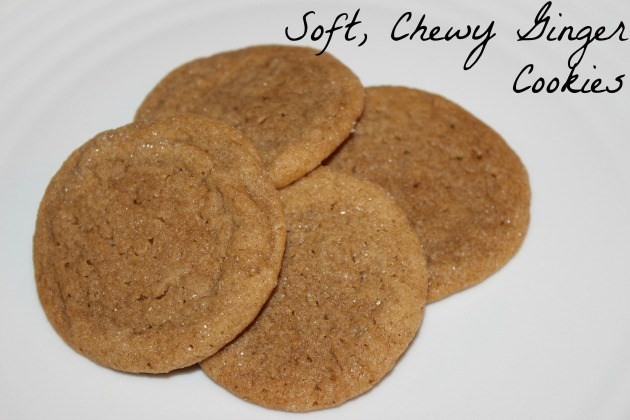 Soft, Chewy Ginger Cookies